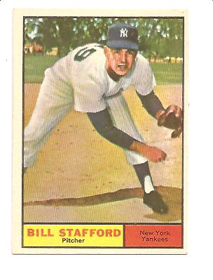 1961 Topps #213 Bill Stafford RC