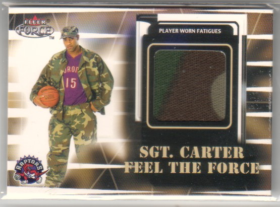 1999-00 Fleer Force #NNO Vince Carter/Sgt.Carter Jersey