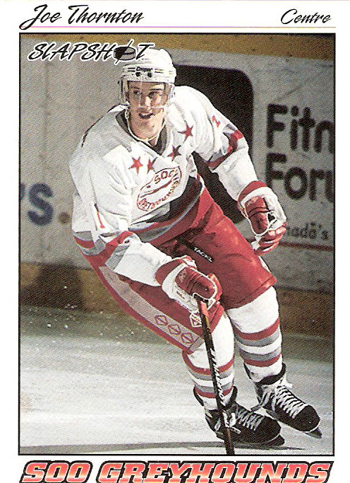 1995-96 Slapshot #363 Joe Thornton
