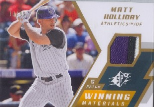 2009 SPx Winning Materials Patch #WMMH Matt Holliday