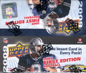 5 PACK LOT : 2009 Upper Deck First (1st) Edition Football (10 cards per Pack) (1 Insert Card & 1 Parallel Card in EVERY Pack)
