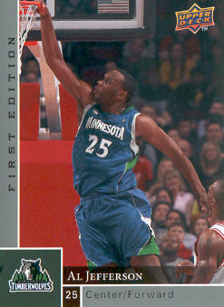 2009-10 Upper Deck First Edition #97 Al Jefferson
