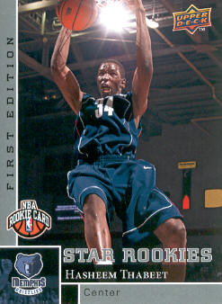 2009-10 Upper Deck First Edition #187 Hasheem Thabeet RC front image