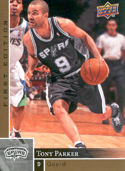 2009-10 Upper Deck First Edition Gold #154 Tony Parker