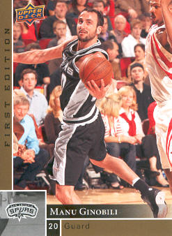 2009-10 Upper Deck First Edition Gold #155 Manu Ginobili