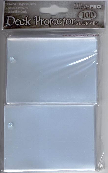 Ultra Pro Deck Protector Sleeves 100 count pack - Clear (fits standard size Magic the Gathering cards, etc)