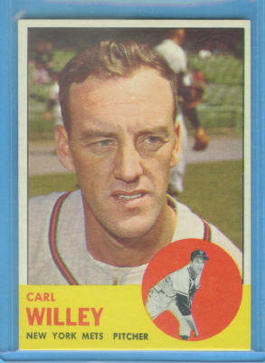 1963 Topps #528 Carl Willey