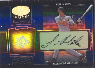 2004 Leaf Certified Cuts Marble Signature Blue #22 Luis Matos/75