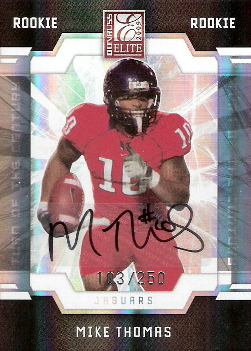 2009 Donruss Elite Turn of the Century Autographs #170 Mike Thomas/250