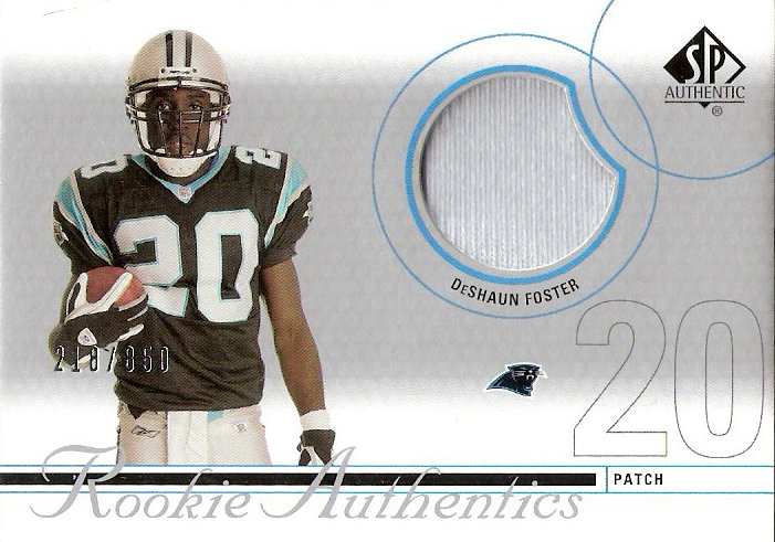 2002 SP Authentic #221 DeShaun Foster JSY RC