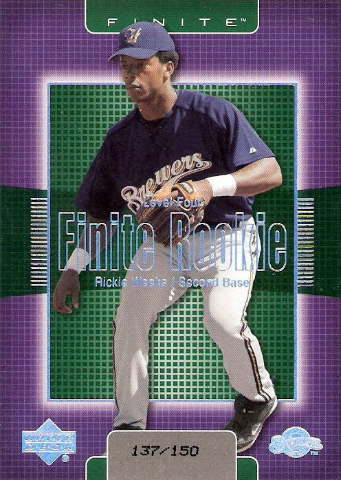 2003 Upper Deck Finite #362 Rickie Weeks T4 RC
