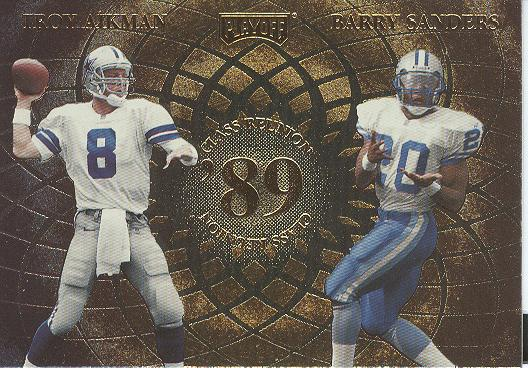 1998 Playoff Momentum Class Reunion Quads #7 Troy Aikman/Barry Sanders/Deion Sanders/Andre Rison