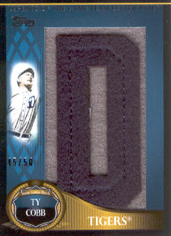 2009 Topps Update Legends of the Game Team Name Letter Patch #TC Ty Cobb/50 */Letters spell Detroit (each letter serial #'d/50)