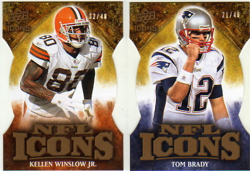 2009 Upper Deck Icons NFL Icons Die Cut #ICTB Tom Brady
