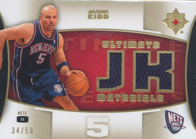 2007-08 Ultimate Collection Materials Gold #JK Jason Kidd