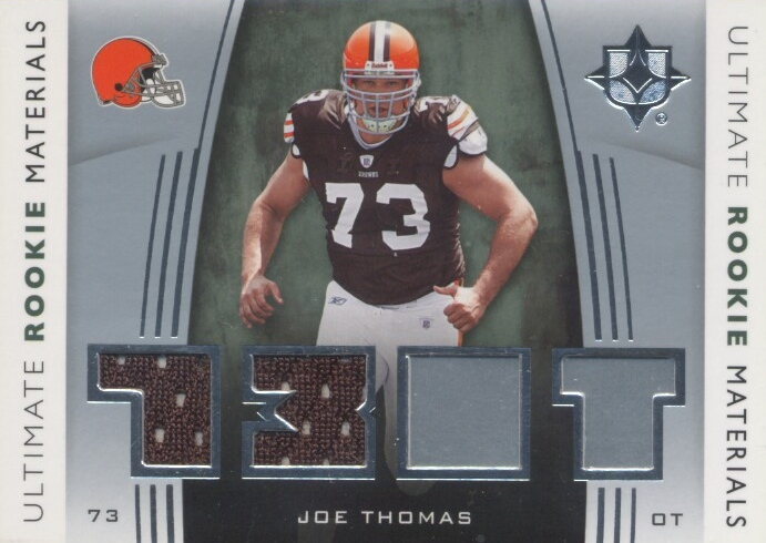 2007 Ultimate Collection Rookie Materials Silver #URMJT Joe Thomas