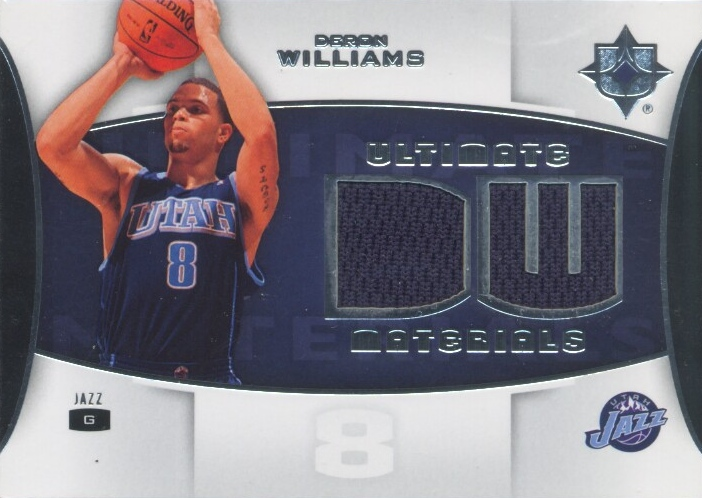 2007-08 Ultimate Collection Materials #DW Deron Williams