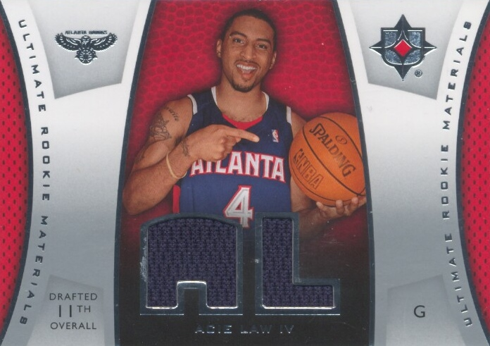 2007-08 Ultimate Collection Materials Rookies #AL Acie Law