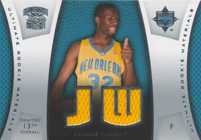 2007-08 Ultimate Collection Materials Rookies #JW Julian Wright