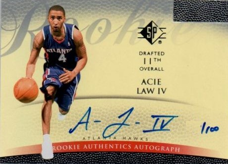 2007-08 SP Authentic Retail Rookie Autographs #123 Acie Law/100