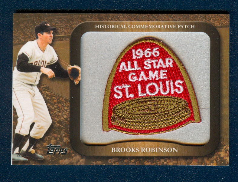 2009 Topps Legends Commemorative Patch #LPR75 Brooks Robinson/1966 MLB All-Star Game