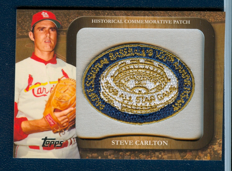 2009 Topps Legends Commemorative Patch #LPR77 Steve Carlton/1969 MLB All-Star Game