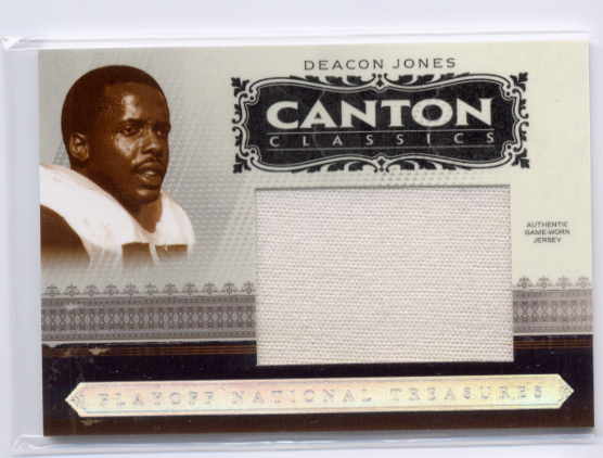 2006 Playoff National Treasures Canton Classics Materials Jumbo Jerseys #12 Deacon Jones