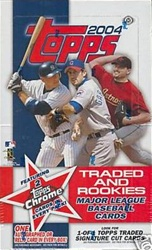 2004 Topps Traded and Rookies MLB Baseball Sports Trading Cards Hobby box