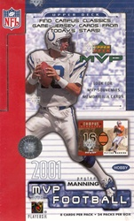 2001 Upper Deck MVP NFL Football Sports Trading Cards Hobby Box