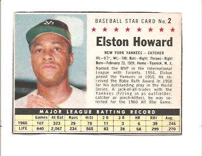 1961 Post #2A Elston Howard COM