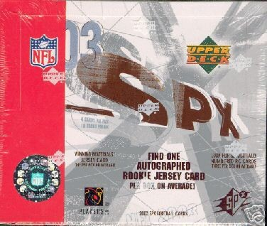 2003 Upper Deck SPx NFL Football Sports Trading Cards Box