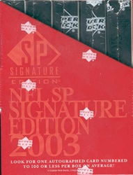 2003 Upper Deck SP Signature Edition NFL Football Sports Trading Cards Box