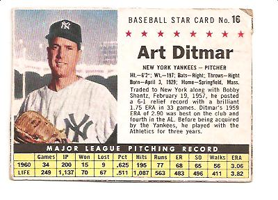 1961 Post #16 Art Ditmar BOX only