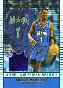 2002-03 Topps Jersey Edition #JETLM Tracy McGrady R