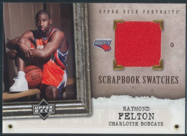 2005-06 UD Portraits Scrapbook Swatches #RF Raymond Felton