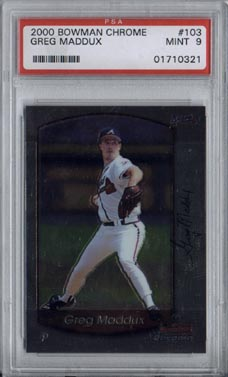2000 Bowman Chrome Baseball #103 Greg Maddux Mint PSA 9 NICE!