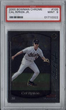 2000 Bowman Chrome Baseball #105 Cal Ripken Jr. Mint PSA 9 NICE!