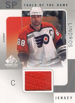 2000-01 SP Game Used Tools of the Game #EL Eric Lindros