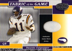 2002 Leaf Certified Fabric of the Game Team Logos #44 Daunte Culpepper