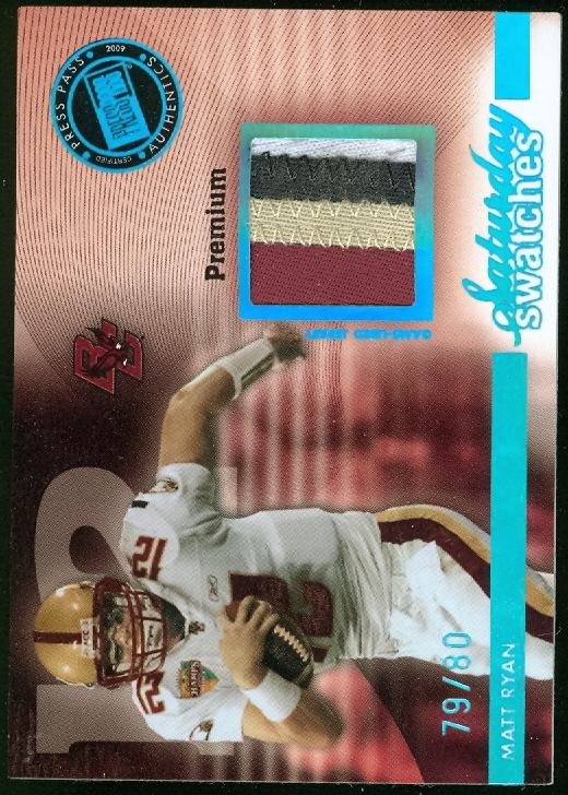 2009 Press Pass Legends Saturday Swatches Premium #SSWMR Matt Ryan/80
