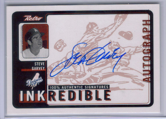 1999 Upper Deck Retro Inkredible #SG Steve Garvey front image