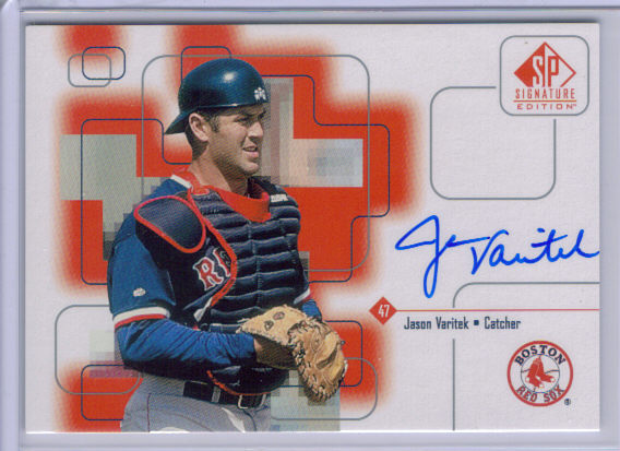 1999 SP Signature Autographs #JV Jason Varitek front image