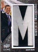 2008 Upper Deck Icons Presidential Icons Lettermen #PL1 Barack Obama/229