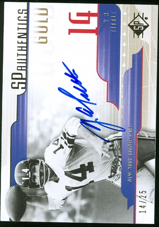 2008 SP Authentic Autographs Gold #SPYT Y.A. Tittle