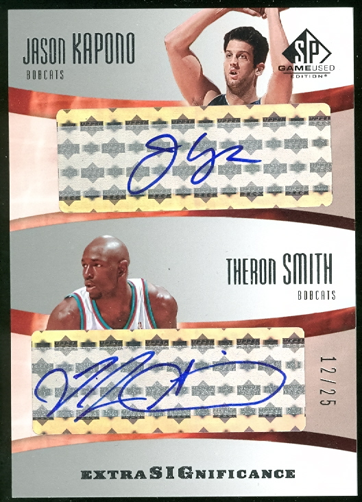 2004-05 SP Game Used SIGnificance Duals #JT Jason Kapono/Theron Smith