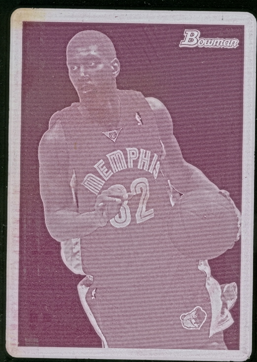 2009-10 Bowman 48 Press Plates Magenta #39 O.J. Mayo