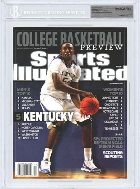 SPORTS ILLUSTRATED UNCIRCULATED Patrick Patterson Kentucky front image