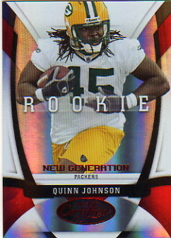 2009 Certified Mirror Red #186 Quinn Johnson