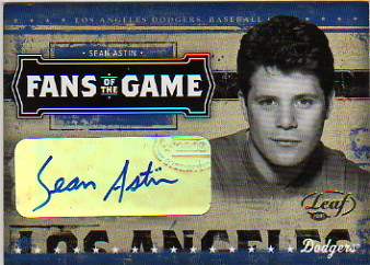 2005 Leaf Fans of the Game Autographs #1 Sean Astin