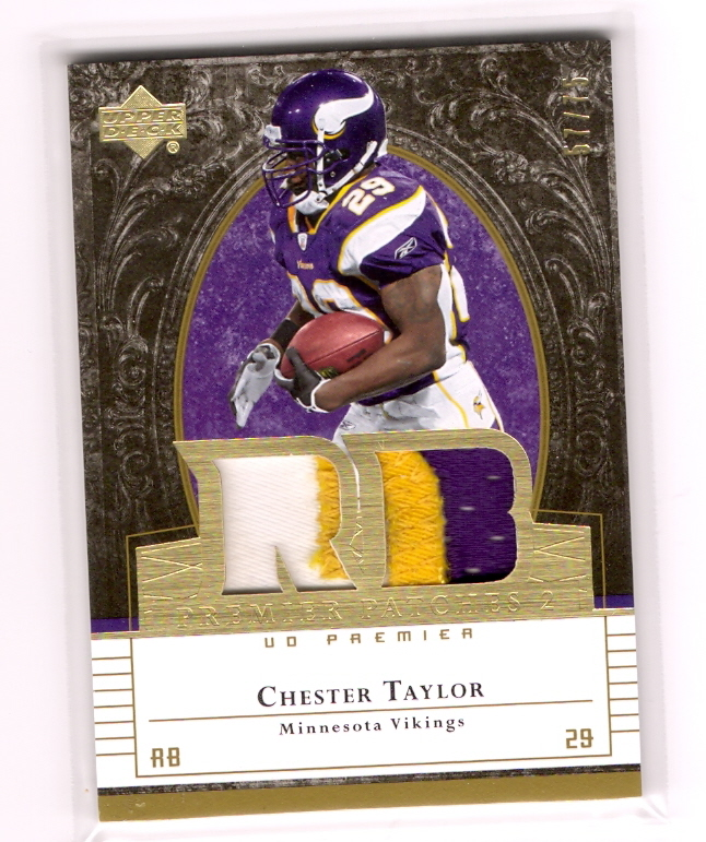 2007 Upper Deck Premier Patches Dual Gold #PP2CT Chester Taylor
